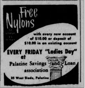 Ladies Day Ad in Arlington Heights Herald, 1958