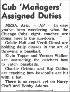 The Belvidere Daily Republican Reports On The Unique Coaching Arrangements