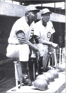 Buck O'Neil and Ernie Banks in 1963