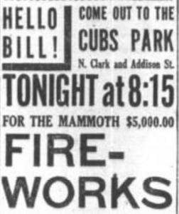 CHicago Tribune, july 4, 1919