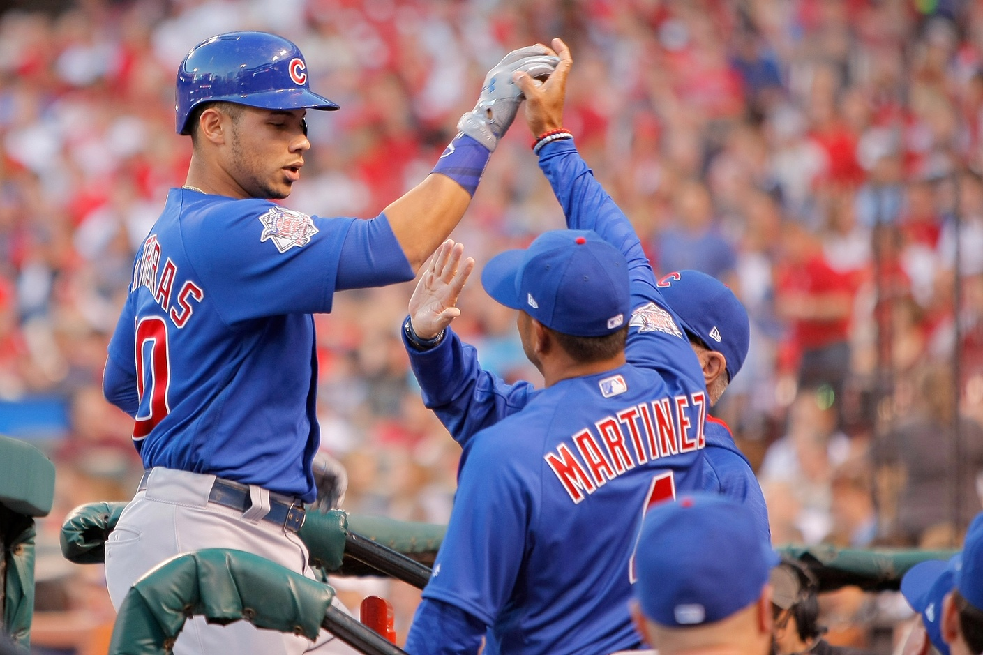 Cubs rout Cardinals; magic number now 1